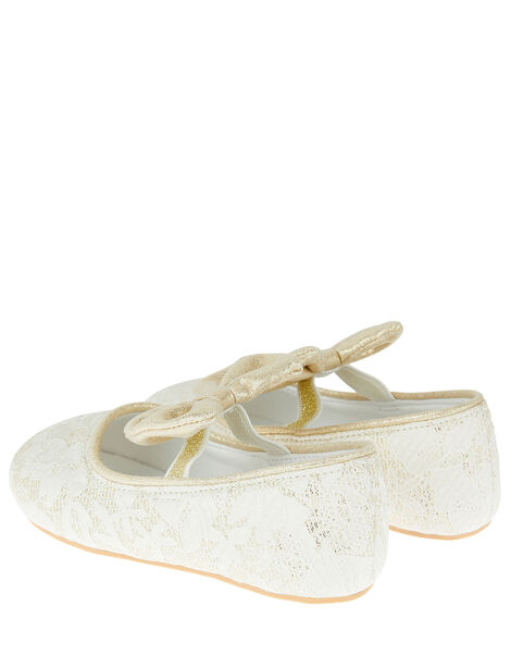 Bow Jacquard Walker Shoes Ivory, Ivory (IVORY), large