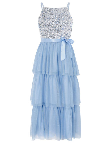 Truth Tiered Maxi Prom Dress Blue, Blue (PALE BLUE), large