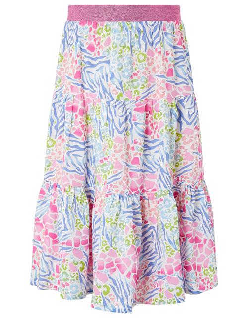 Zenovia Animal Print Skirt in LENZING™ ECOVERO™, Pink (PINK), large