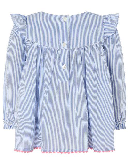 Baby Ticking Stripe Set, Blue (BLUE), large