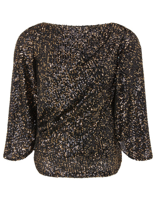 Sabrina Sequin Cape Top, Gold (GOLD), large