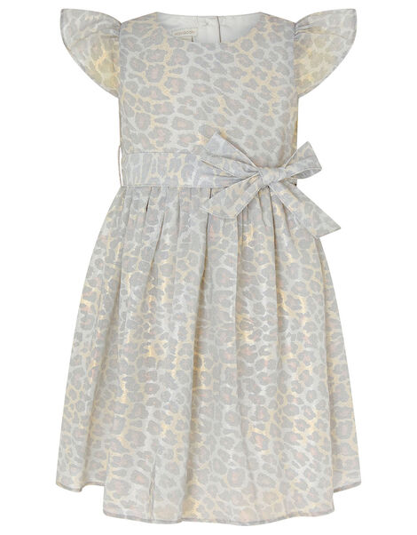 Baby Alanis Animal Print Dress Grey, Grey (GREY), large
