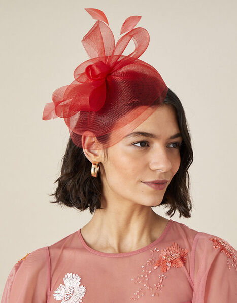 Crin Bow Fascinator  Red, Red (RED), large