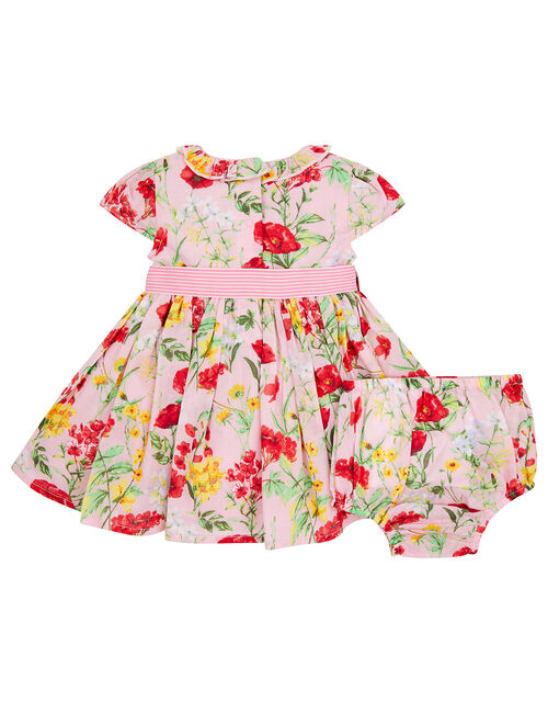 Newborn Baby Poppy Dress, Pink (PINK), large