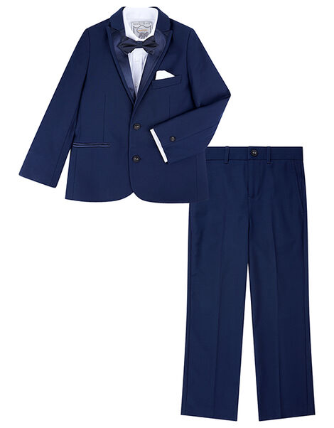 Thomas 4PC Tuxedo Set Blue, Blue (NAVY), large
