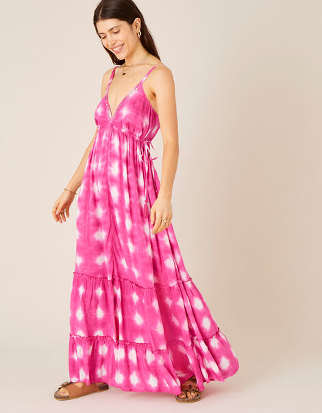 Tie Dye Maxi Dress  Pink, Pink (PINK), large