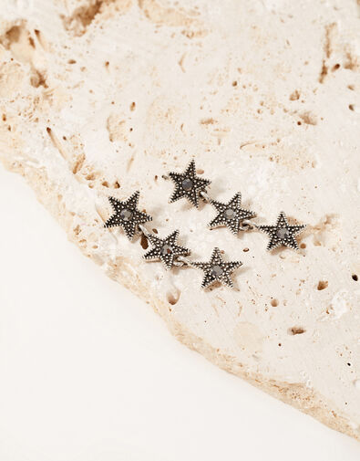 Moon Star Long Earrings, , large