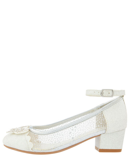 Amelia Butterfly Sparkly Princess Shoe, Silver (SILVER), large