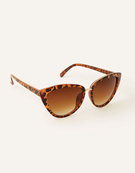 Charlie Cat Eye Sunglasses Brown, Brown (BROWN), large