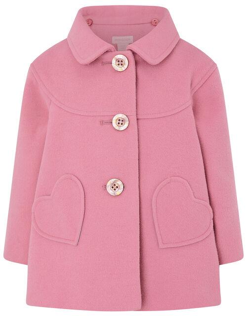 Baby Heart Pocket Coat, Pink (PINK), large