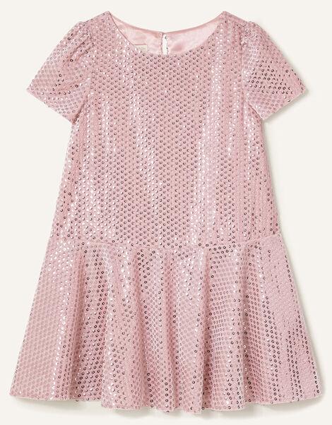 Sequin Velour Dress Pink, Pink (PINK), large