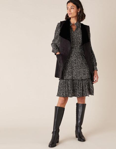 Suki Suedette Waistcoat Black, Black (BLACK), large