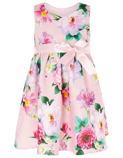 Baby Floral Scuba Dress Pink, Pink (PINK), large
