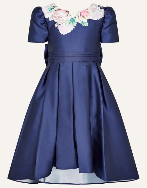 Henrietta Floral Print Dress Blue, Blue (NAVY), large