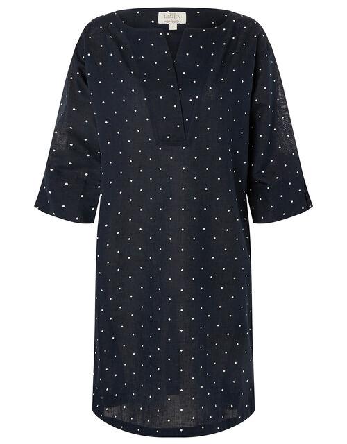 Scarlett Spot Print Tunic Dress, Blue (NAVY), large
