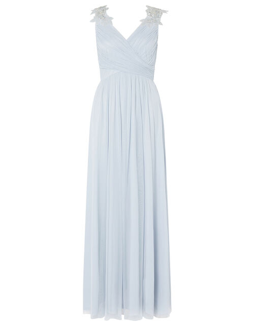 Mischa Embellished Tulle Maxi Dress, Blue (BLUE), large