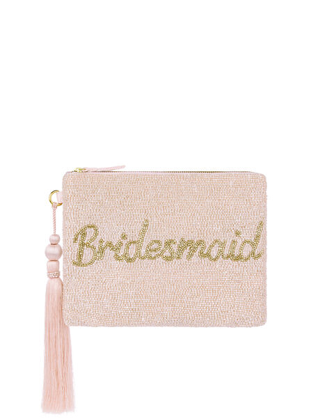 Bree Bridesmaid Bead-Embellished Pouch, , large
