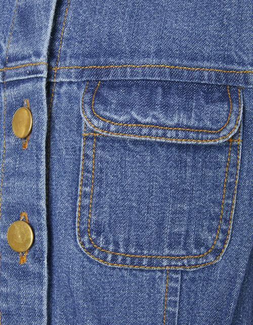 Long Sleeve Denim Jumpsuit, Blue (BLUE), large