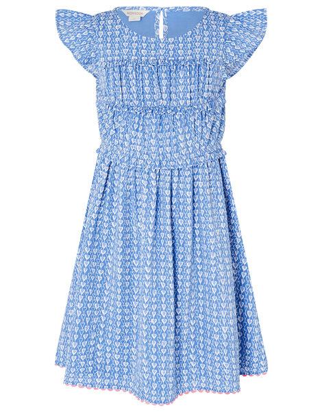 Heart Print Dress Blue, Blue (BLUE), large