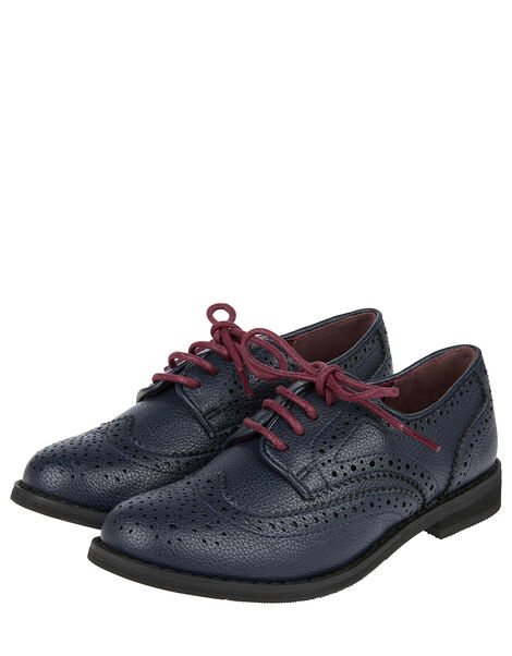 Brogue Shoes Blue, Blue (NAVY), large