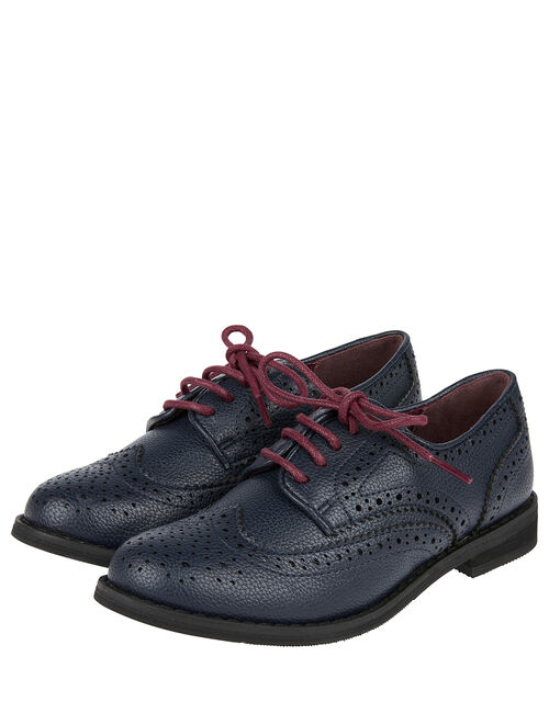 Brogue Shoes, Blue (NAVY), large
