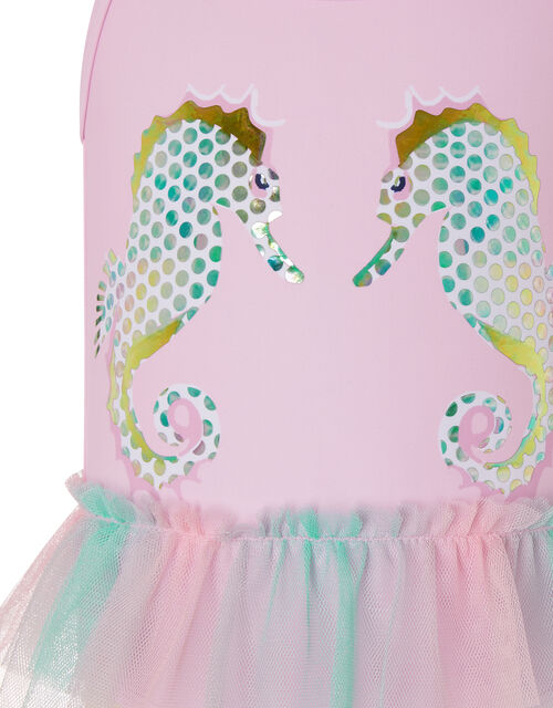 Baby Blaire Seahorse Swimsuit, Pink (PALE PINK), large