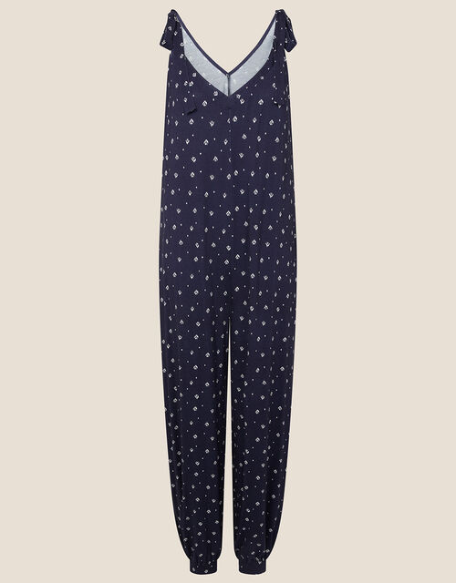 Olly Printed Hareem Jumpsuit, Blue (NAVY), large