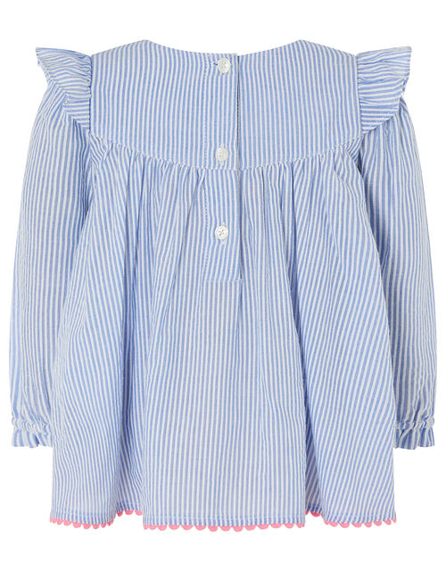 Baby Ticking Stripe Set, Blue (BLUE), large