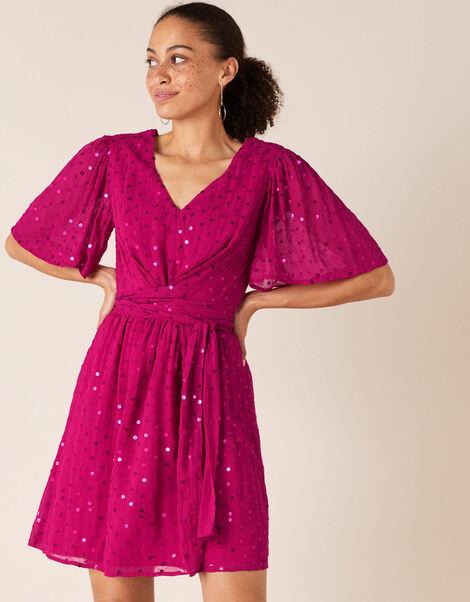 Peyton Sequin Short Dress Pink, Pink (PINK), large