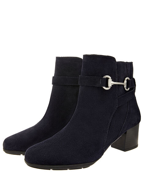 Callie Suede Comfort Ankle Boots Blue, Blue (NAVY), large