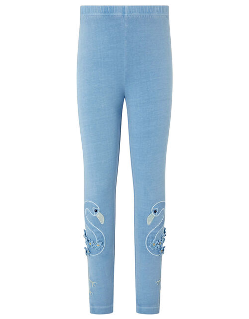 Flamingo Garment Dye Leggings, Blue (BLUE), large