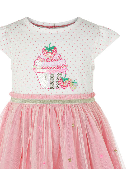 Baby Nessie Strawberry Disco Dress, Pink (PINK), large