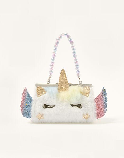 Fluffy Unicorn Mini Bag, , large
