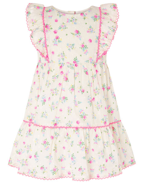 Baby Dobby Ditsy Dress Ivory, Ivory (IVORY), large