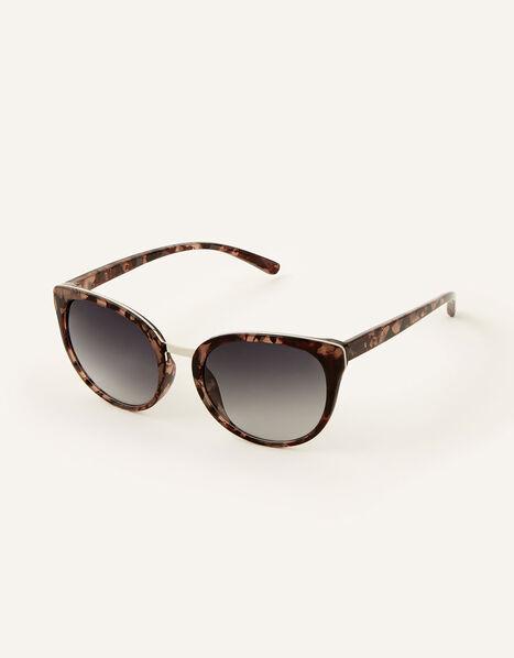 Perla Preppy Sunglasses Natural, Natural (NEUTRAL), large