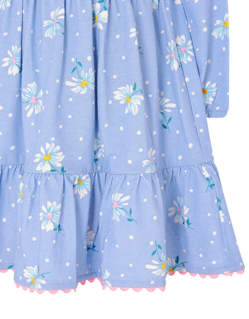 Baby Daisy Jersey Dress in Organic Cotton, Blue (BLUE), large