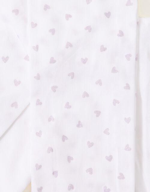 Baby Glitter Heart Tights Set, Multi (MULTI), large