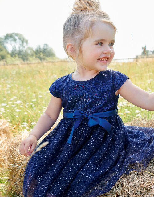 Baby Paige Sequin Dress, Blue (NAVY), large