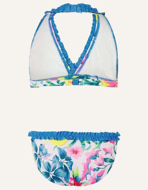 Tropical Floral Ruffle Bikini Set, Multi (MULTI), large