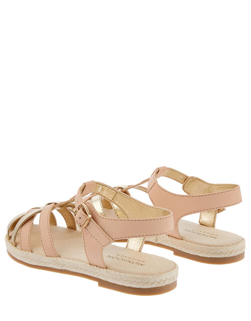 Caged Espadrille Sandals, Pink (PINK), large