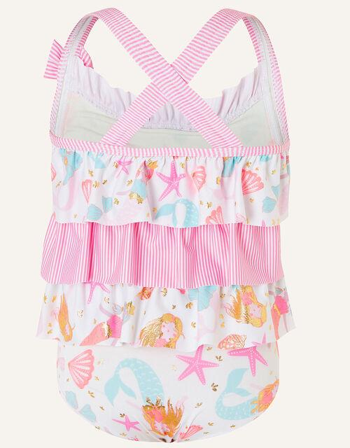 Baby Mermaid Print Swimsuit, Ivory (IVORY), large