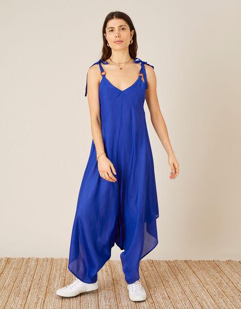 Relaxed Romper in LENZING™ ECOVERO™ Blue, Blue (COBALT), large
