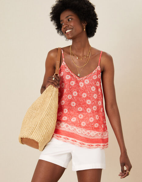 Andora Printed Cami in LENZING™ ECOVERO™ Red, Red (RED), large