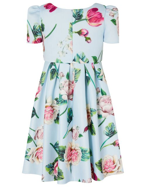 Floral Scuba Dress, Blue (PALE BLUE), large