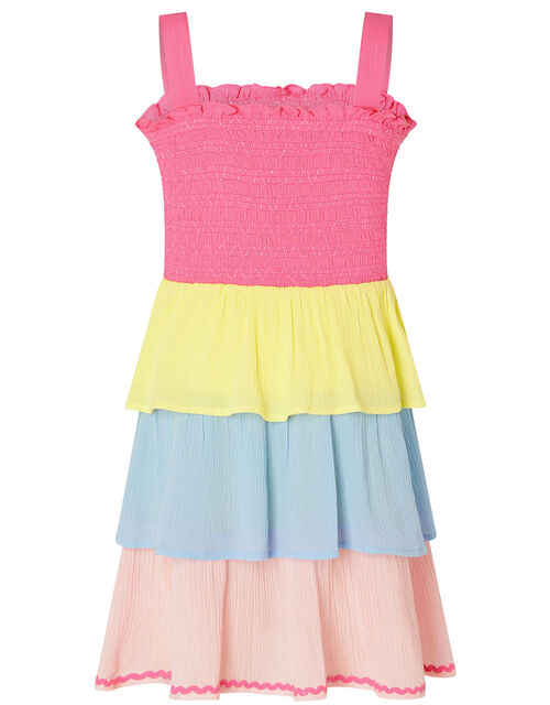 Colour-Block Dress in LENZING™ ECOVERO™, Pink (PINK), large