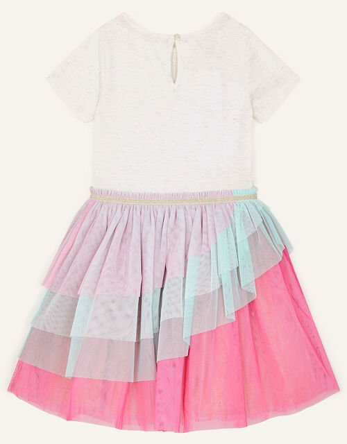 Butterfly Ruffle Disco Dress, Pink (PINK), large