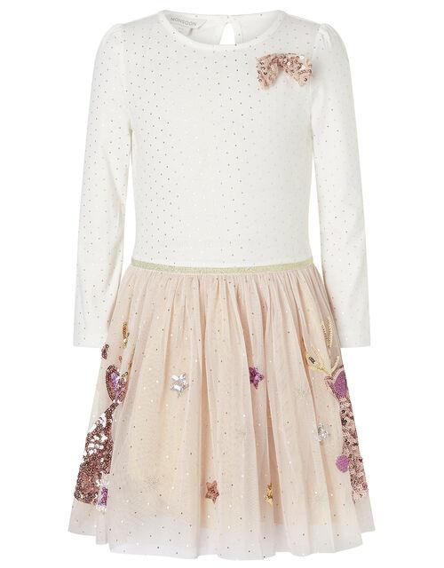XMAS Sequin Reindeer Disco Dress, , large