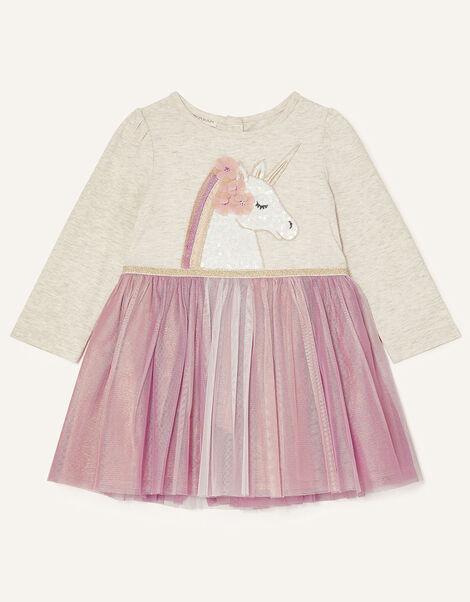 Baby Unicorn Disco Dress Pink, Pink (PINK), large