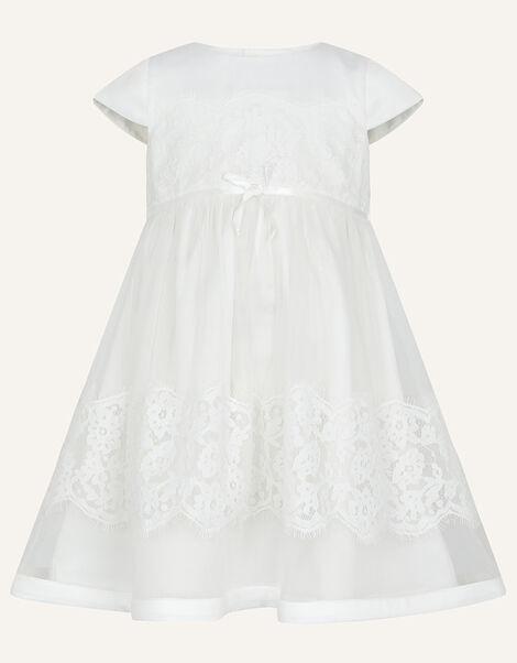 Baby Alovette Christening Dress Ivory, Ivory (IVORY), large