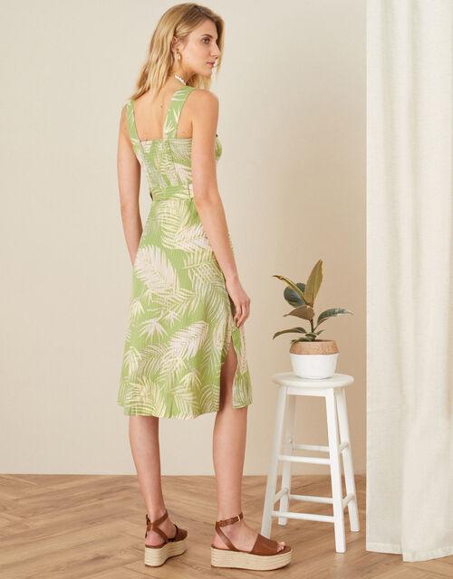 Palm Print Dress , Green (GREEN), large
